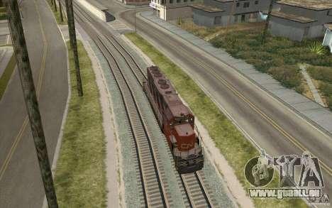 CN SD40 ZEBRA STRIPES pour GTA San Andreas vue de droite