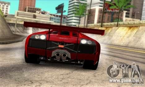 Lamborghini Murcielago R-SV GT1 für GTA San Andreas zurück linke Ansicht