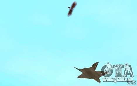 YF-23 pour GTA San Andreas vue intérieure
