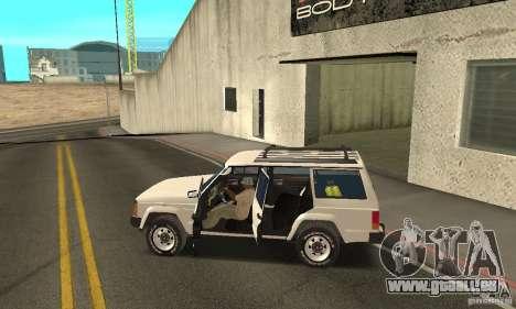 Jeep Grand Cherokee 1986 pour GTA San Andreas moteur
