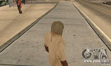 Longs cheveux blonds pour GTA San Andreas deuxième écran