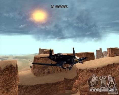 Aereo Corsair F4U1D für GTA San Andreas Seitenansicht