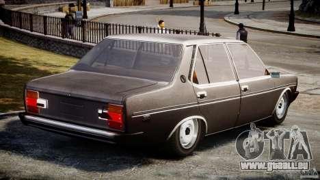 Fiat 131 Mirafiori 1974 pour GTA 4 Vue arrière de la gauche