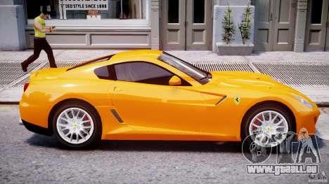 Ferrari 599 GTB Fiorano für GTA 4 Unteransicht
