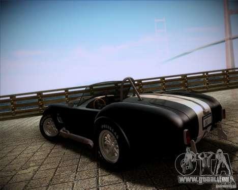Shelby Cobra 427 Full Tunable pour GTA San Andreas laissé vue