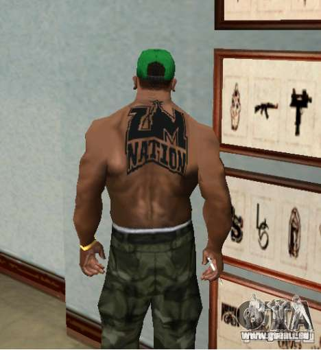 Tattoo NATION ZM pour GTA San Andreas