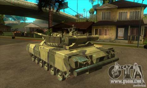 T-80U MBT pour GTA San Andreas sur la vue arrière gauche