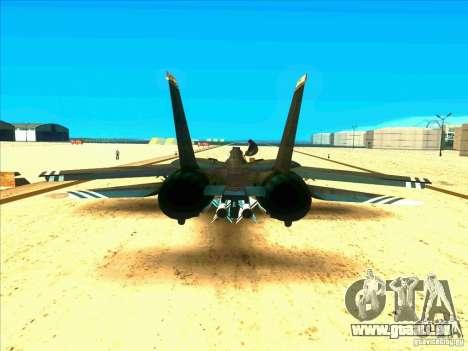 F-14 Tomcat Schnee für GTA San Andreas rechten Ansicht