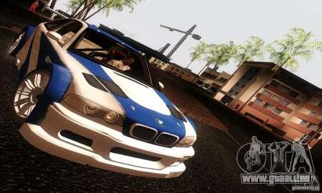 BMW M3 GTR v2.0 pour GTA San Andreas vue de droite