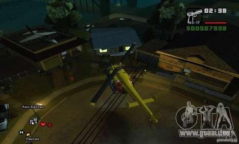 Helitours Maverick von GTA 4 für GTA San Andreas Innenansicht