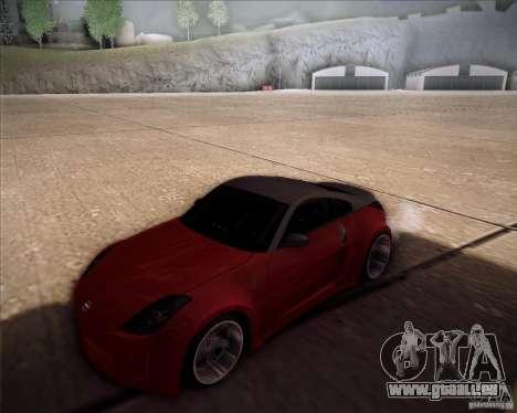 Nissan 350Z AdHoc pour GTA San Andreas vue arrière