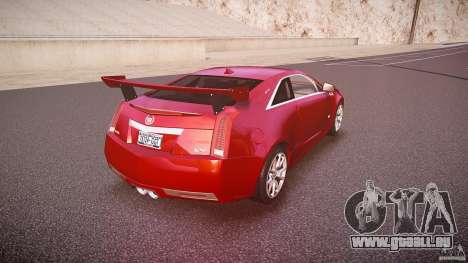Cadillac CTS-V Coupe pour GTA 4 vue de dessus