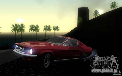 Ford Mustang 1967 American tuning pour GTA San Andreas laissé vue