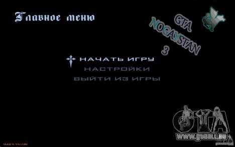 Le menu de la Nogaystan jeu de GTA pour GTA San Andreas deuxième écran
