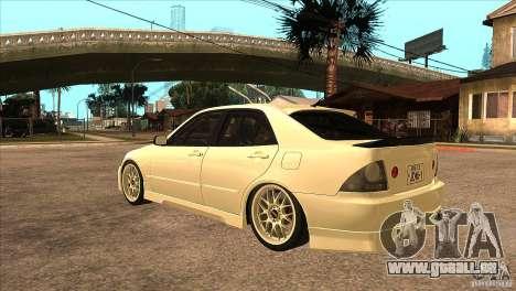 Toyota Altezza RS200 JDM Style für GTA San Andreas zurück linke Ansicht