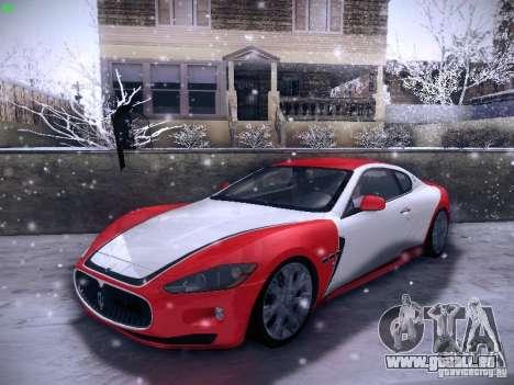 Maserati Gran Turismo S 2011 V2 für GTA San Andreas Unteransicht