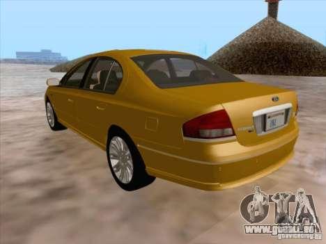 Ford Falcon Fairmont Ghia für GTA San Andreas Unteransicht