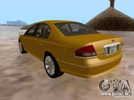 Ford Falcon Fairmont Ghia pour GTA San Andreas vue de dessous