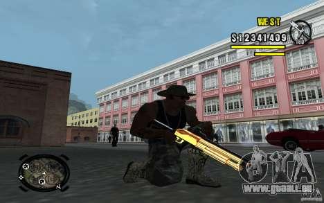 Gold Weapon Pack v 2.1 für GTA San Andreas zweiten Screenshot