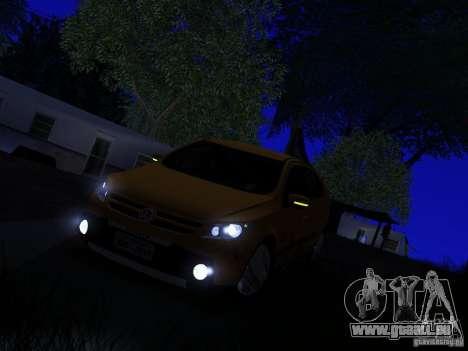 Volkswagen Gol Rallye 2012 für GTA San Andreas Rückansicht