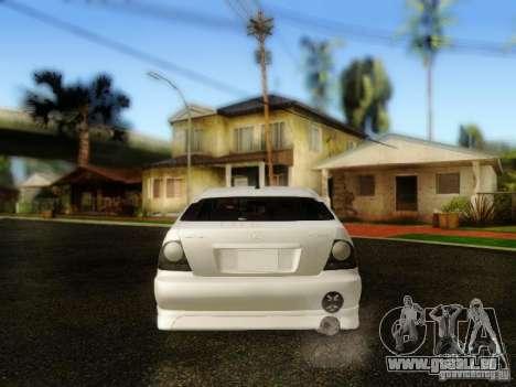 Lexus IS300 Jap style pour GTA San Andreas vue arrière