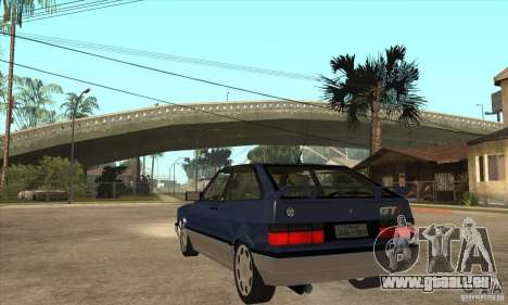 VW Gol GTI 1989 pour GTA San Andreas sur la vue arrière gauche