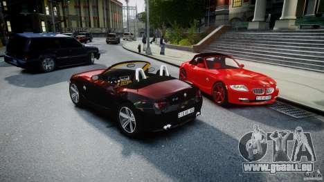 BMW Z4 Roadster 2007 i3.0 Final pour GTA 4 est une vue de dessous