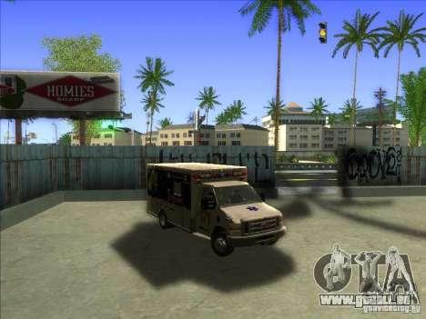 Ford E-350 Ambulance pour GTA San Andreas vue arrière