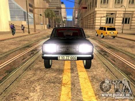 VAZ 2107 ZZ Style pour GTA San Andreas vue arrière