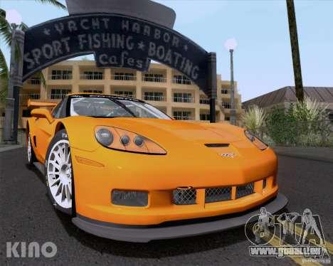 Chevrolet Corvette C6 Z06R GT3 v1.0.1 pour GTA San Andreas vue de dessus