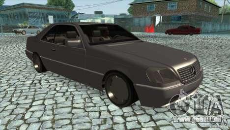 Mercedes Benz 600 Sec pour GTA San Andreas vue arrière