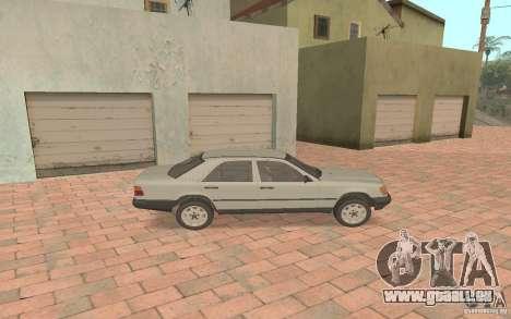 Mercedes-Benz E200 W124 pour GTA San Andreas sur la vue arrière gauche
