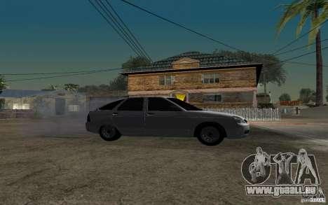 LADA Priora leichte tuning Schrägheck für GTA San Andreas rechten Ansicht