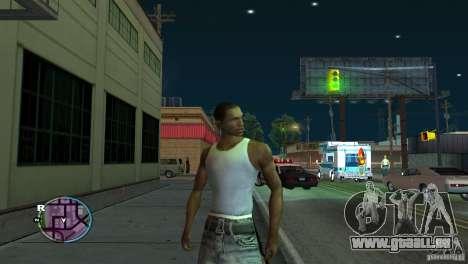 GTA IV HUD pour un écran large (16:9) pour GTA San Andreas
