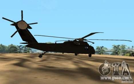 UH-60 Silent Hawk pour GTA San Andreas laissé vue