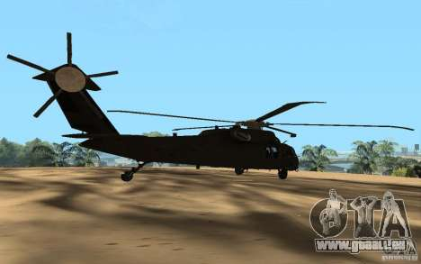 UH-60 Silent Hawk für GTA San Andreas linke Ansicht