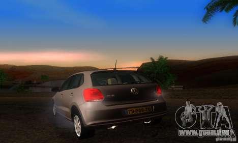 Volkswagen Polo 1.2 TSI pour GTA San Andreas sur la vue arrière gauche