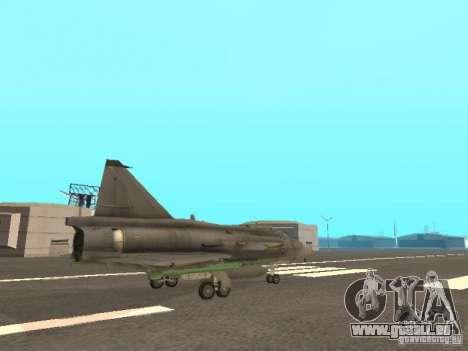 Saab JA-37 Viggen für GTA San Andreas Innenansicht