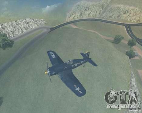 Aereo Corsair F4U1D für GTA San Andreas linke Ansicht