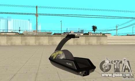 Scooter de mer pour GTA San Andreas vue intérieure