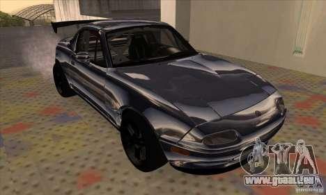 Mazda MX5 Style Drifting pour GTA San Andreas laissé vue