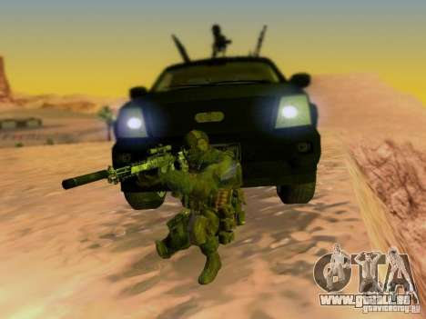 Suv Call Of Duty Modern Warfare 3 für GTA San Andreas Motor