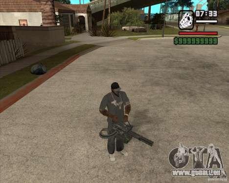 Hand Held M134 Minigun für GTA San Andreas her Screenshot