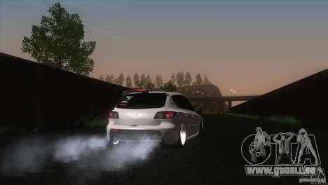 Mazda MazdaSpeed 3 pour GTA San Andreas sur la vue arrière gauche
