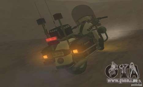 Moto de la police de GTA TBoGT pour GTA San Andreas sur la vue arrière gauche