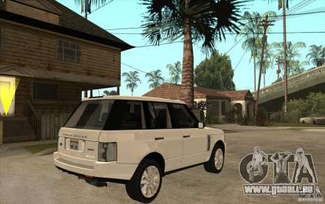 Range Rover Supercharged 2008 pour GTA San Andreas vue de droite