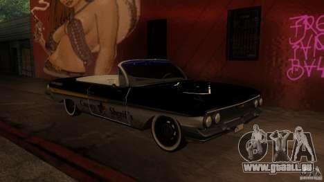 Chevy Impala SS 1961 für GTA San Andreas zurück linke Ansicht