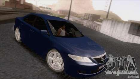 Mazda 6 2006 pour GTA San Andreas laissé vue