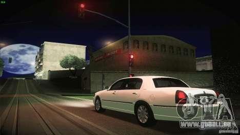 Lincoln Towncar 2010 pour GTA San Andreas vue de dessus
