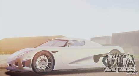 Koenigsegg CCX 2006 v2.0.0 pour GTA San Andreas laissé vue